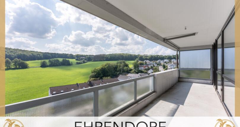 3-Zi. Mietwohnung mit Panoramablick, Loggia und Garage